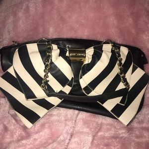 Betsey Johnson Large Bow Purse